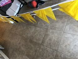 Commercial Grade YELLOW PENNANT STRING 100 FEET TRIANGLE FLAGS NEW SALE