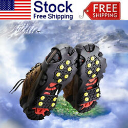 10Teeth Anti Slip Crampons Ice Snow Grip Shoes Spike Boots Grippers fIT Cleat US $6.29