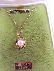 Jewels by Shalimar Cultured Pearl Gold Filled Necklace $34.99
