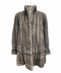 Vintage Sapphire Gray Mink Women#x27;s Coat Size Small FREE SHIPPING $599.95
