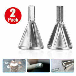 2PC Deburring External Chamfer Tool Drill Bit Remove Burr Stainless Steel Silver $6.99