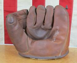 Vintage 50s Spalding Leather Baseball Glove Fielders Mitt Phil quot;Scooterquot; Rizzuto $71.20