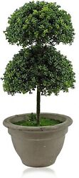 1.5 Feet Artificial Topiary Plant Balls Faux Greenery Potted Bonsai Decoration $31.99