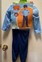 Halloween Boy 2 Pc Costume Play Police Man w HAT Padded Chest Arms Sz 2T NWT $12.73