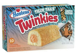 NEW Hostess Twinkies Limited Edition Tiger Tails 10 Count  Joe Exotic Tiger King $11.79
