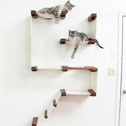 Cat Hammock Wall Mounted Scratching Wood Tree House Pet Furniture Play Houses $359.99
