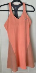 RARE NIKE MARIA SHARAPOVA DRI-FIT CORAL&GREY TENNIS DRESS SZ.SMALL $40.00