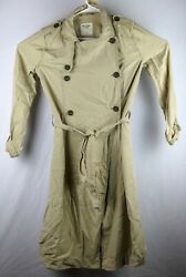 Abercrombie and Fitch long women#x27;s trench coat jacket 90s lightweightSize S $35.00