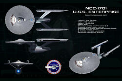 Star Trek USS Enterprise Blueprint Starship Art Wall Room Poster POSTER 24x36 $18.99