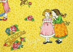 Mary Engelbreit Such Devoted Sisters Fabric Cotton Quilt Sewing Fabric BTHY $16.99