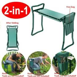 Folding Garden Kneeler Seat Bench Kneeling Soft EVA Pad Lightweight w/Pockets $28.45