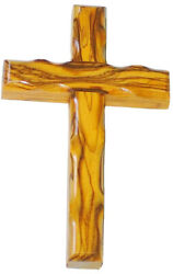 10 inch Olive Wood Holy Cross Hanging Wall Souvenir from Jerusalem Holy Land
