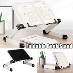 Foldable Portable Adjustable Angle Metal Book Stand Holder Reading Document Gift $38.56