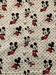 Disney MICKEY MOUSE Fabric By the Half Yard 100% Cotton $6.50