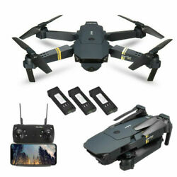 Drone X Pro Foldable Quadcopter WIFI FPV 720P Wide-Angle HD Camera 3 Batteries $20.50