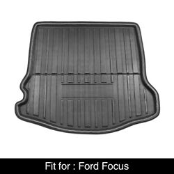 Black Rear Trunk Boot Liner Cargo Mat Floor Tray for 2012 2017 Ford Focus $31.99