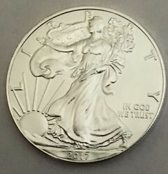 2017 American Silver Eagle One Dollar 1 oz. Silver Uncirculated out of roll $37.75