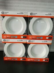4 Pk Commercial Electric Easy Up 6 Soft White Integrated LED Recessed Kit New ✅