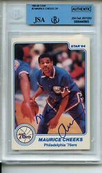 1983 84 Star #2 Maurice Cheeks SP Rookie Card BGS JSA Authentic Autograph $82.49
