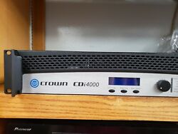 Crown Audio CDi4000 Solid State 2 Channel Amplifier Power 1200W Per Channel used $599.00