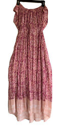 Free People Pink Mix Prints Maxi Dress XS New $55.00