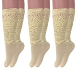 Long Cotton Lightweight Slouch Socks 3 PAIRS Boot Socks Size 9 11 $12.99