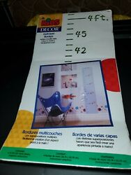 Kids Decor Multi Layer Borders Height Growth Chart Handpainted Look New $11.96