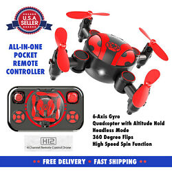 Avialogic H12 Mini Drone Foldable Nano Quadcopter 6-Axis Gyro 4CH Remote Control $15.99