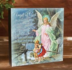 Guardian Angel 10quot; Wood Sign Wall Art Christian Wall Plaque $18.00