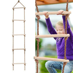 5Rungs Climbing Rope Ladder for Kids Swing Set Accessories Playground Exercise $23.70