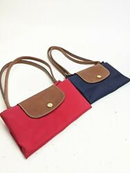 Lot Of Two Longchamp Le Pilage Foldable Tote Bag Bags Red Blue $54.99
