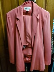 Pink silk skirt and matching jacket $35.00