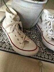 Converse Chuck Taylor All Star Youth White Hi top Athletic Shoes Sz 3 $13.00