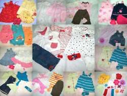 Huge 50 pc Spring Summer Girls Baby Clothes Lot 6 12 mo Childrens Place Carter $120.00