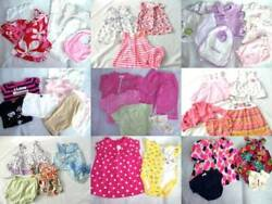 Huge 41 pc Spring Summer Girls Baby Clothes Lot 0 3 mo Most are Carters $90.00