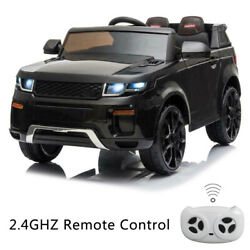 12V Kids Ride On Car Battery Powered Truck with Remote Control MP3 Light Black $135.99