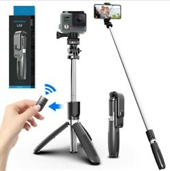 Extendable Mini Selfie Stick Bluetooth 4.0 Remote Tripod Monopod For iOS Android $11.99