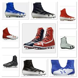 UNDER ARMOUR UA HIGHLIGHT Mens High Top Football Lacrosse Cleats Free Shipping $31.99
