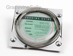 Wedgewood Vintage Stove Part Clock Culinary Cooking Chart with Chrome Bezel Ring $145.00