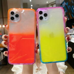 For iPhone 12 11 Pro Max XS XR 8 7 Luminous Dynamic Quicksand Liquid Cover Case $8.98