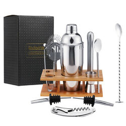 14Piece Cocktail Shaker Bar Set Stainless Steel Bartender Kit Accessories Tools $25.99