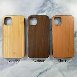 Natural wood case for iphone 11 12 pro max XR X XS wooden SE 2020 8 7 plus cover $11.99
