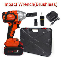 Cordless Electric Impact Wrench Gun 1 2#x27;#x27; Driver 800Nm Li ion Battery High Power $64.98