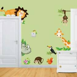 DIY Removable Jungle Animal Kids Baby Nursery Home Decor Wall Sticker Decal US $7.31