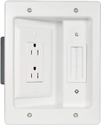 Legrand Home Office amp; Theater Home Theater In Wall TV Power Kit White 5.1 $29.98