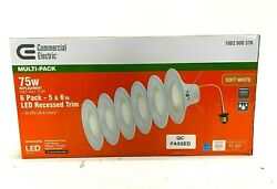 Commercial Electric 5 and 6 inch LED Recessed Trim Lights White 6 Pack