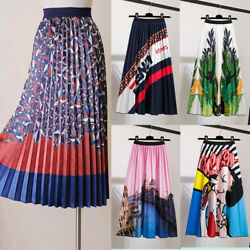 Pleated Skirt Women#x27;s Summer 2020 New Mickey Cartoon Printing Women#x27;s Skirts $14.99