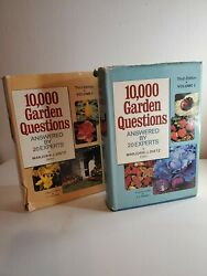 10000 Garden Questions Vol. 1 amp;2 Answered by 20 Experts by Dietz Vintage BCE $4.99