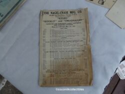 1925 Price List The Nagle Chase Mfg Quicklit Dreadnaught Wizard Lighting Lamps $17.99