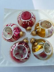 HANDCRAFTED CHRISTMAS ORNAMENTS NAVI GLO MADE IN MEXICO BOX 5 $6.25